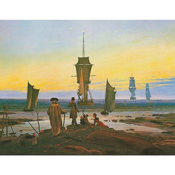 Caspar David Friedrich: Bild 'Die Lebensstufen' (1835), auf Keilrahmen