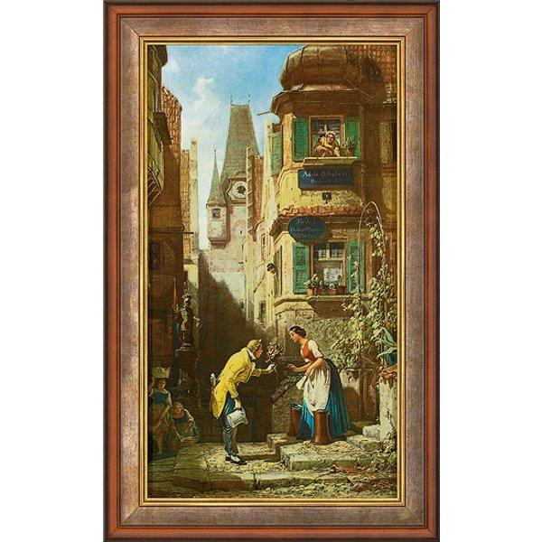 Carl Spitzweg: Bild 'Der ewige Hochzeiter' (1855-58), gerahmt