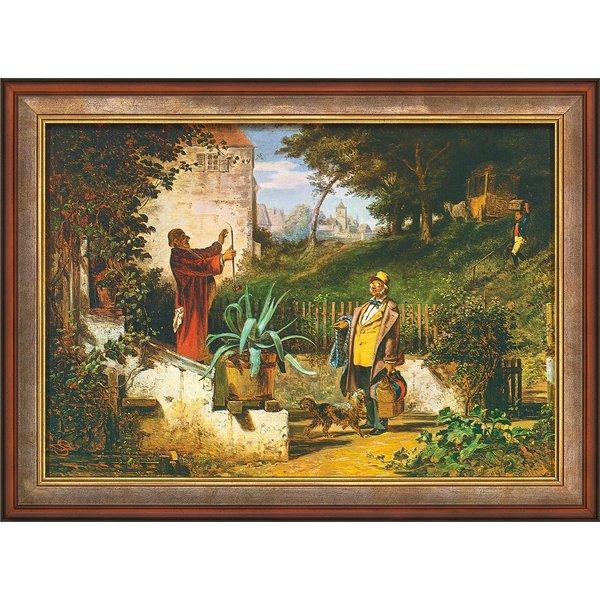 Carl Spitzweg: Bild 'Jugendfreunde' (um 1855), gerahmt
