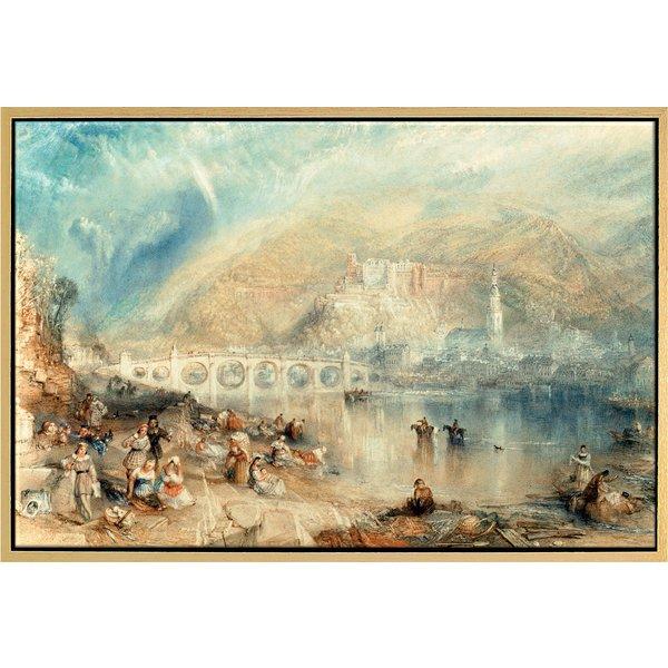 William Turner: Bild 'Heidelberg mit einem Regenbogen' (um 1841), gerahmt