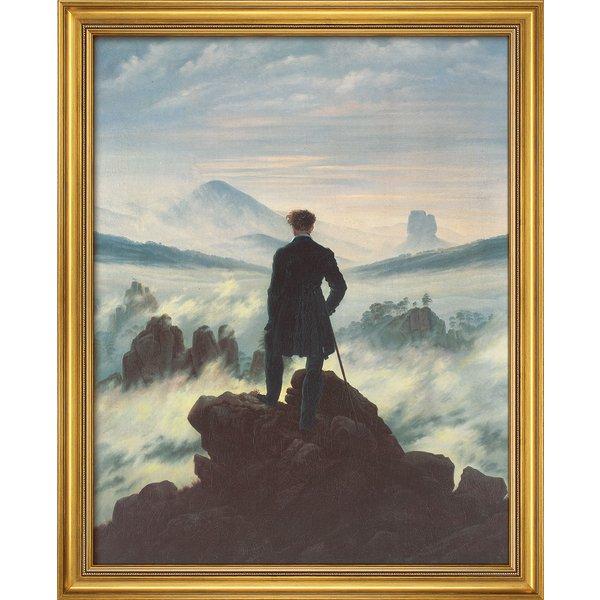 Caspar David Friedrich: Bild 'Der Wanderer über dem Nebelmeer' (1818), gerahmt