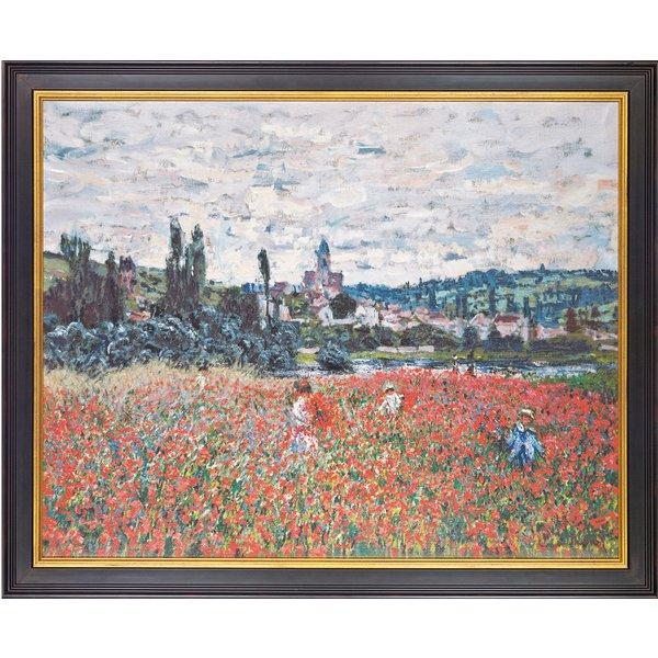 Claude Monet: Bild 'Mohnblumen bei Vétheuil' (um 1879), gerahmt
