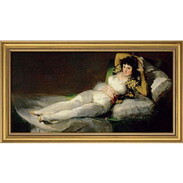 Francisco de Goya: Bild 'Die bekleidete Maja' (1800-1803), gerahmt