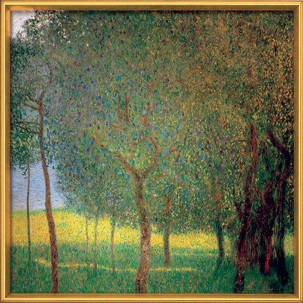 Gustav Klimt: Bild 'Obstbäume am Attersee' (1901), gerahmt