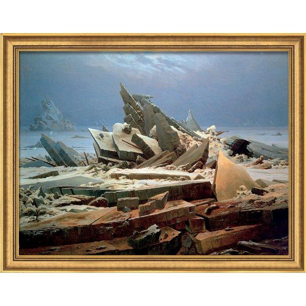Caspar David Friedrich: Bild 'Das Eismeer' (1824), gerahmt