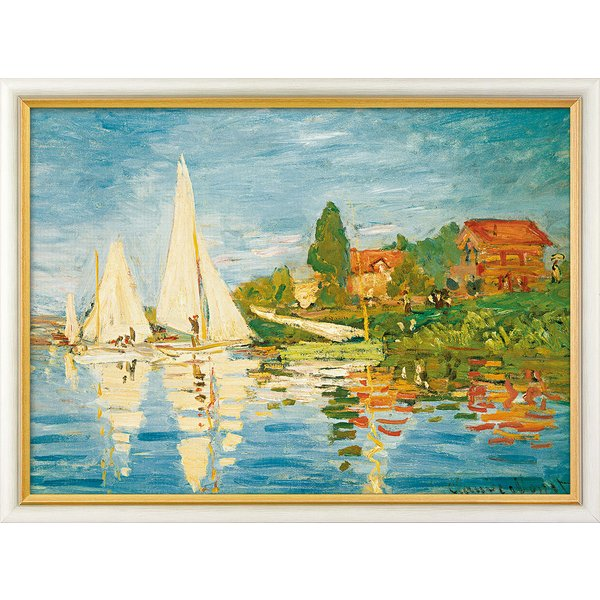 Claude Monet: Bild 'Regatta in Argenteuil' (1872), gerahmt
