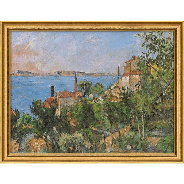 Paul Cézanne: Bild 'Das Meer bei L´Estaque' (1876), gerahmt