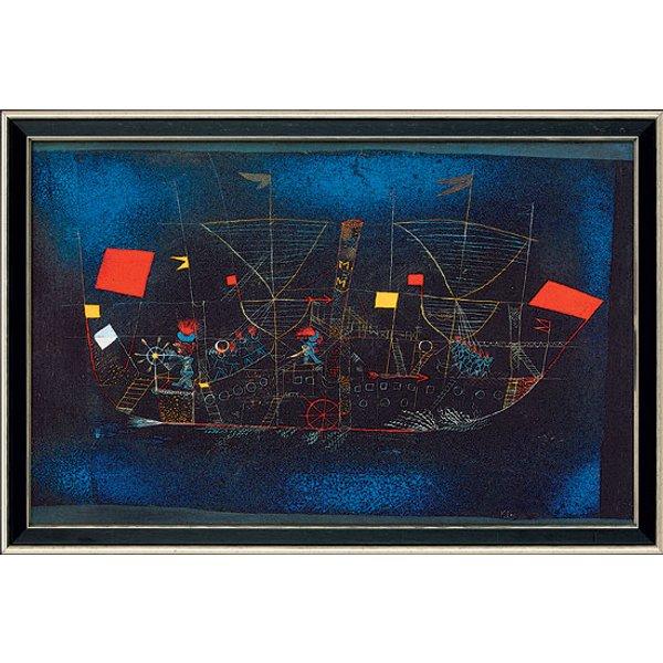 Paul Klee: Bild 'Abenteuerschiff' (1927), gerahmt