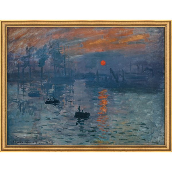 Claude Monet: Bild 'Impression, Sonnenaufgang' (1873), gerahmt