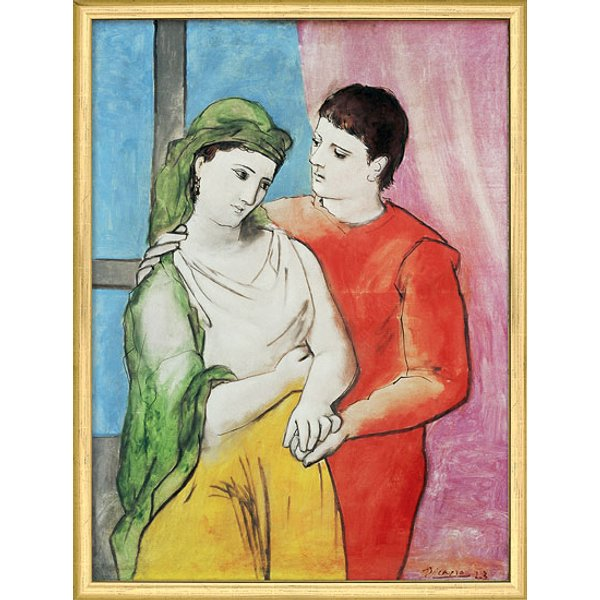 Pablo Picasso: Bild 'The Lovers' (1923), gerahmt