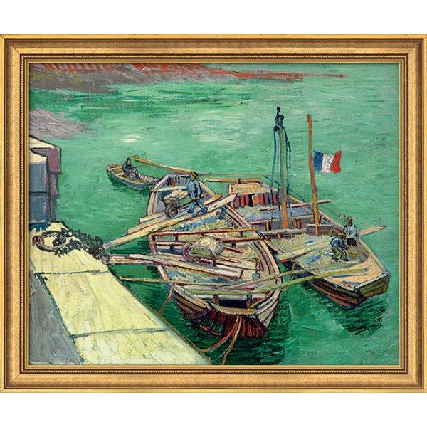 Vincent van Gogh: Bild 'Rhonebarken' (1888), gerahmt