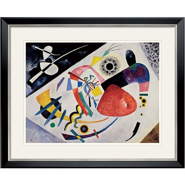 Wassily Kandinsky: Bild 'Roter Fleck II' (1921), gerahmt