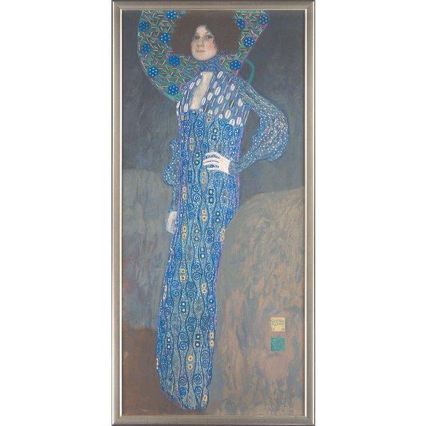 Gustav Klimt: Bild 'Bildnis der Emilie Flöge' (1902), gerahmt