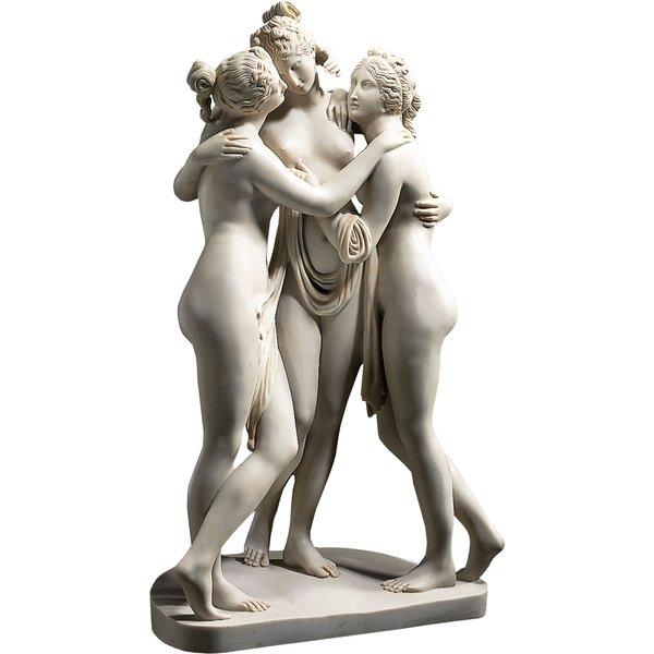 Antonio Canova: Skulptur 'Drei Grazien' (1813-1816), Reduktion in Kunstmarmor