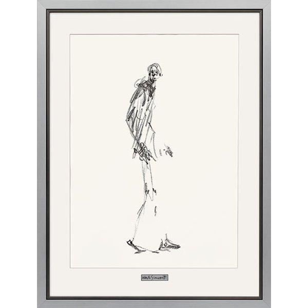 Alberto Giacometti: Bild 'Dessin II (Schreitender Mann)', gerahmt