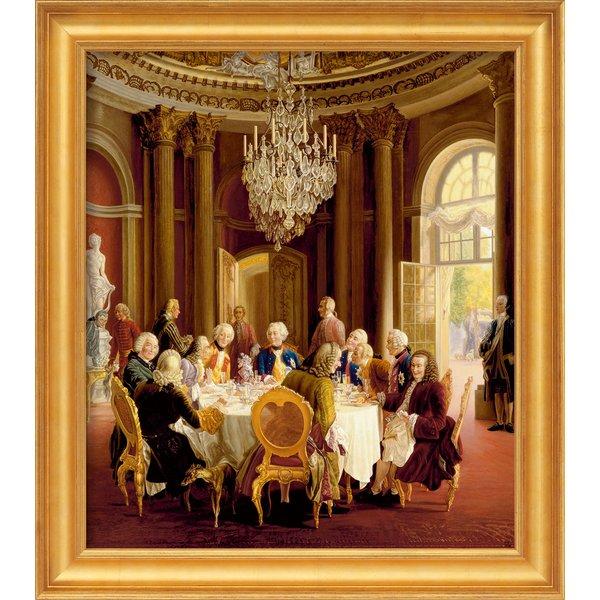 Adolph von Menzel: Bild 'Die Tafelrunde' (1850), gerahmt