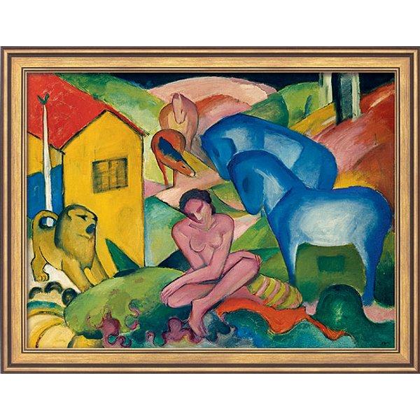 Franz Marc: Bild 'Traum' (1912), gerahmt