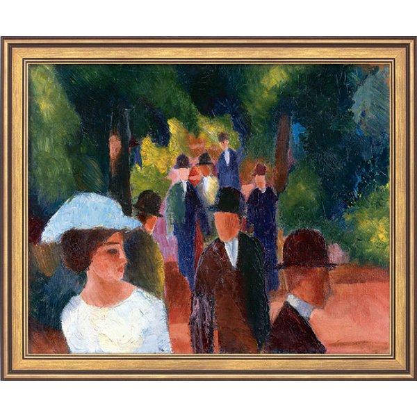 August Macke: Bild 'Promenade (mit weißem Mädchen in Halbfigur)' (1914), gerahmt