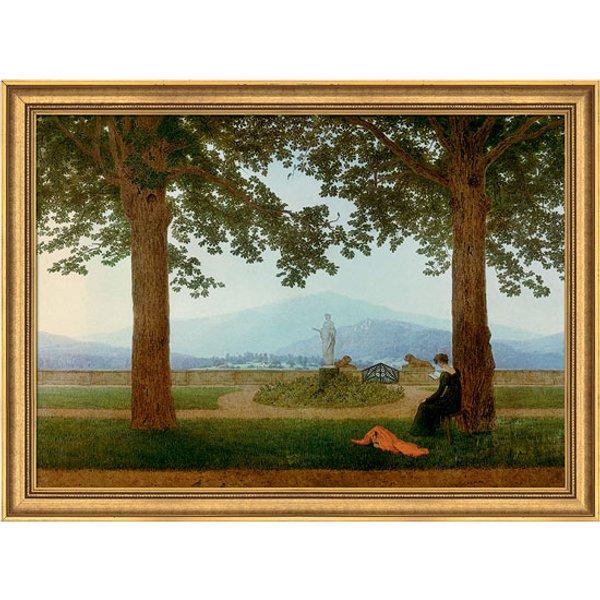 Caspar David Friedrich: Bild 'Gartenterrasse', gerahmt