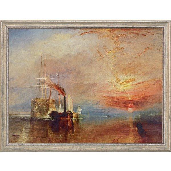 William Turner: Bild 'Die letzte Fahrt der Temeraire' (1838/39), gerahmt