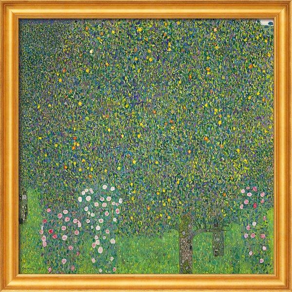 Gustav Klimt: Bild 'Rosensträucher unter Bäumen' (1905), gerahmt