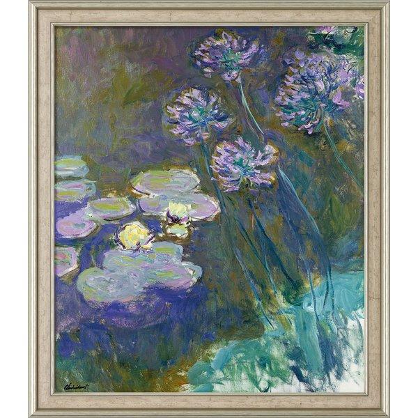 Claude Monet: Bild 'Gelbe Seerosen und Agapanthus' (1914-1917), gerahmt