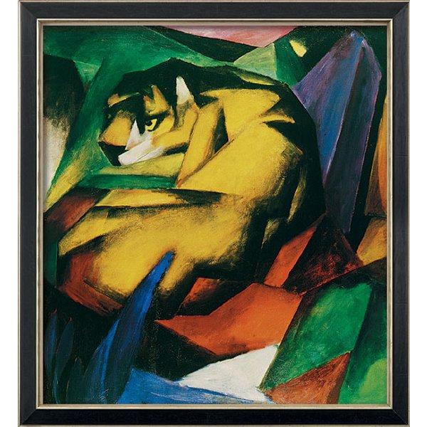 Franz Marc: Bild 'Der Tiger' (1912), gerahmt