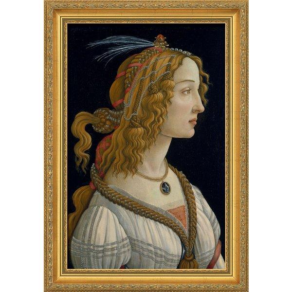Sandro Botticelli: Bild 'Weibliches Idealbildnis' (ca. 1480), gerahmt