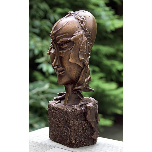 Paul Wunderlich: Skulptur 'Frauenköpfchen', Bronze