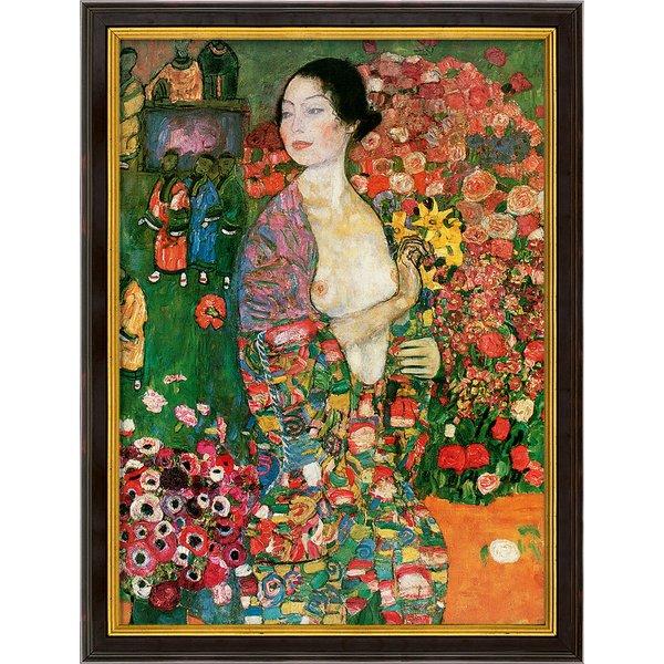 Gustav Klimt: Bild 'Die Tänzerin' (1916-18), gerahmt
