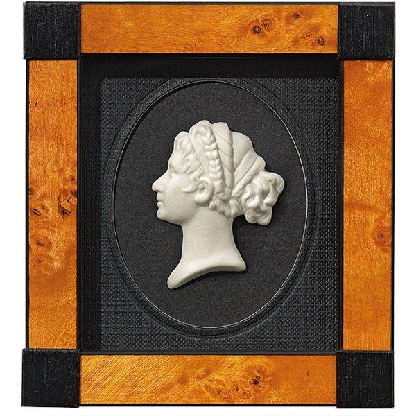 Miniatur-Porzellanbild 'Königin Luise', gerahmt