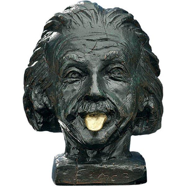 J. Nemecek: 'Einstein-Kopf mit goldener Zunge'