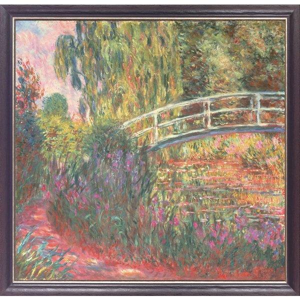 Claude Monet: Bild 'Japanische Brücke im Garten von Giverny', gerahmt