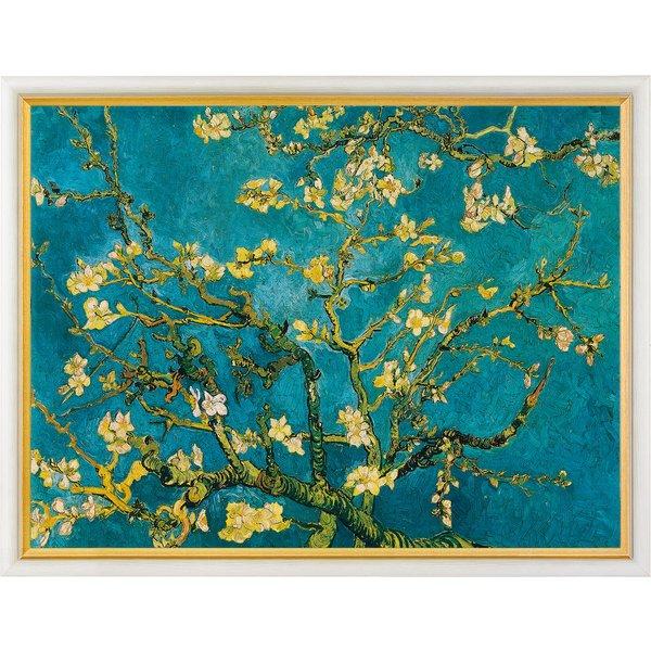 Vincent van Gogh: Bild 'Blühende Mandelbaumzweige' (1890), gerahmt