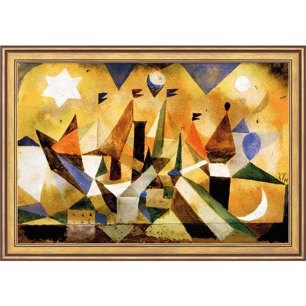 Paul Klee: Bild 'Segelschiffe den Sturm abwartend' (1917), gerahmt