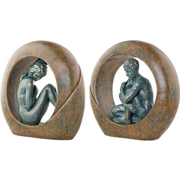 Angeles Anglada: Zwei Skulpturen 'Venus' und 'Saturn' im Set
