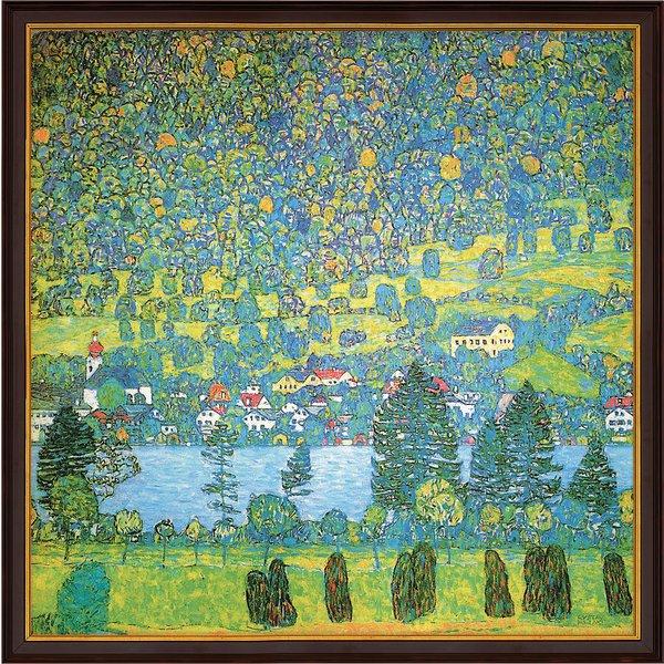 Gustav Klimt: Bild 'Waldabhang in Unterach am Attersee' (1917), gerahmt