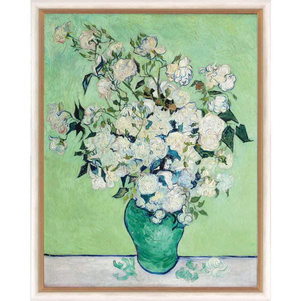 Vincent van Gogh: Bild 'Vase mit weißen Rosen' (1890), gerahmt