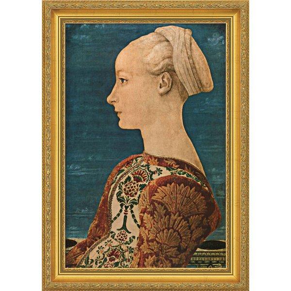 Piero del Pollaiuolo: Bild 'Junge Frau im Profil' (1460), gerahmt