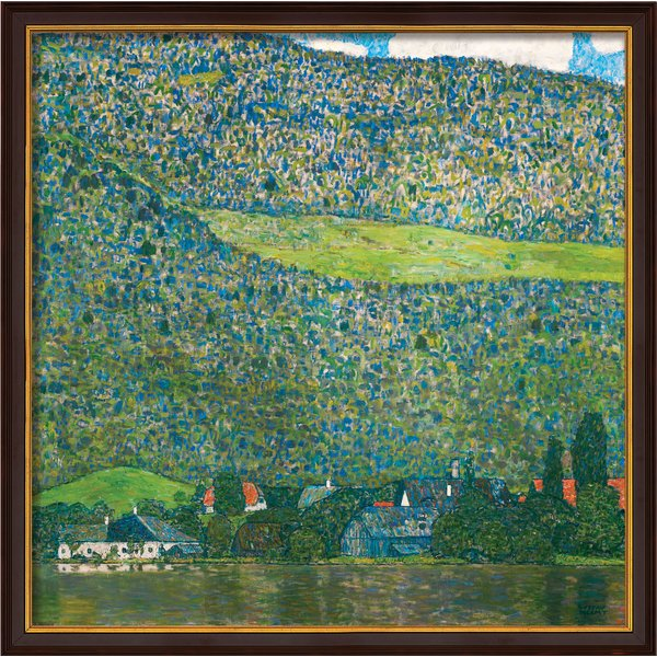 Gustav Klimt: Bild 'Litzlberg am Attersee' (1915), gerahmt