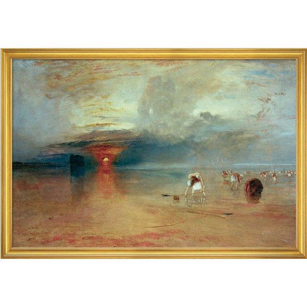 William Turner: Bild 'Strand von Calais' (1830), gerahmt