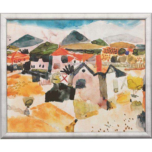 Paul Klee: Bild 'Ansicht von St. Germain' (1914), gerahmt