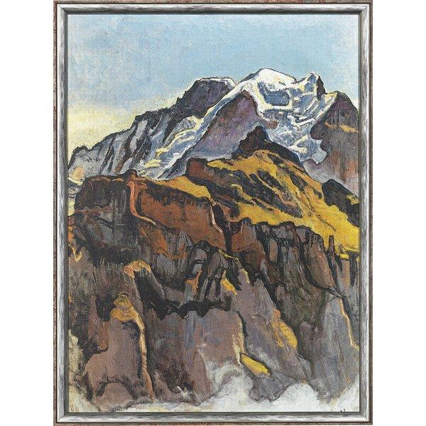 Ferdinand Hodler: Bild 'Jungfrau von Mürren aus' (1911), gerahmt