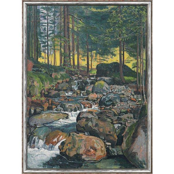 Ferdinand Hodler: Bild 'Wald mit Bergbach' (1902), gerahmt
