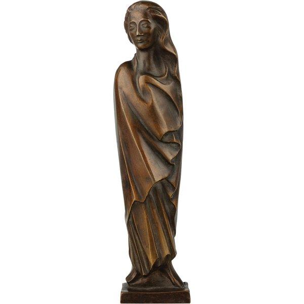 Ernst Barlach: Skulptur 'Frau im Wind' (1931), Reduktion in Bronze