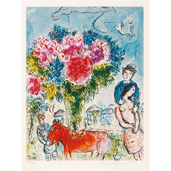 Marc Chagall: Bild 'Personnages fantastiques' (1974), ungerahmt