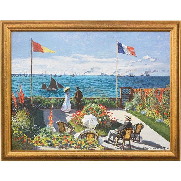 Claude Monet: Bild 'Garten in Sainte-Adresse' (1867), gerahmt