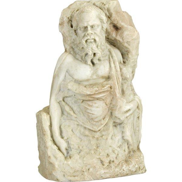 Skulptur 'Sokrates', Kunstmarmor
