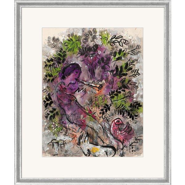 Marc Chagall: Bild 'Der Junge in den Blumen' (1955), gerahmt