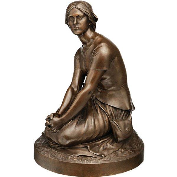 Henri Michel Chapu: Skulptur 'Jeanne d'Arc' (um 1880), Version in Bronze